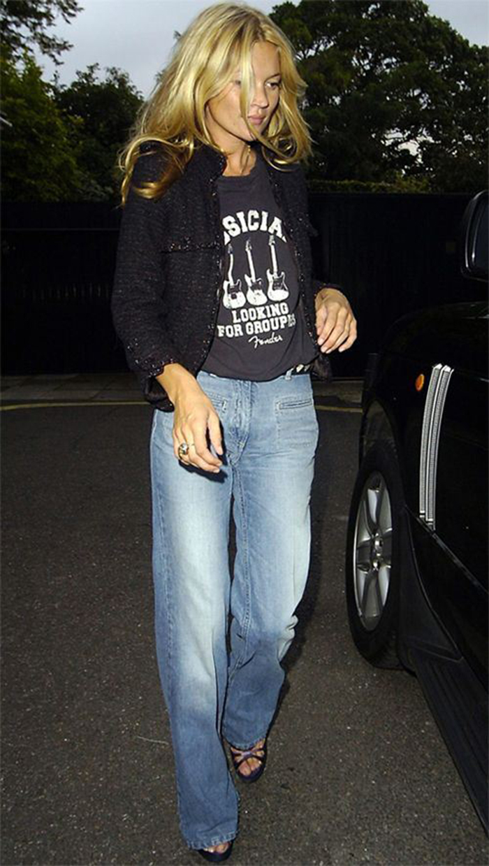 Kate Moss Denim Worn Well